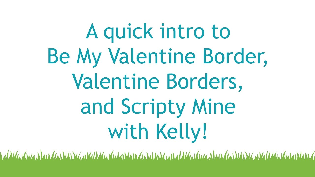 Intro To Be My Valentine Border, Valentine Borders, Scripty Mine