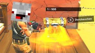 Alphastein öffnet Kiste mit 1 HP = GOLDENE SCAR? 🏆 Fortnite Battle Royale mit Ente