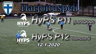 Harjoituspeli HyPS P11 Punainen - HyPS P12 Harraste II 12.1.2020