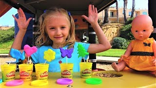 Baby Doll and Play Doh cookie cooking toys baby & Funny Kid