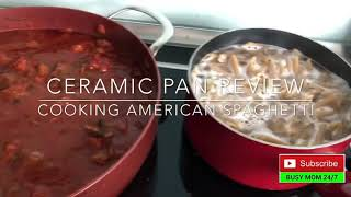 T-Fal COpper Ceramic  Unboxing & Review | Cooking American Spaghetti