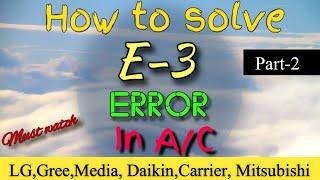 E3 Error Code Air Conditioner, How to Solve E3 Error in Air Conditioner (Part 2)
