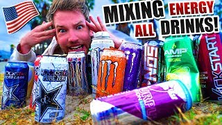 Die härtesten Energy Drinks aus USA zusammengemixt!