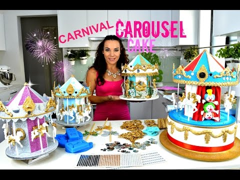 STUNNING CAROUSEL CAKE OR CAKE TOPPER | THEY REALLY TURN & HAVE MUSIC | BY VERUSCA WALKER