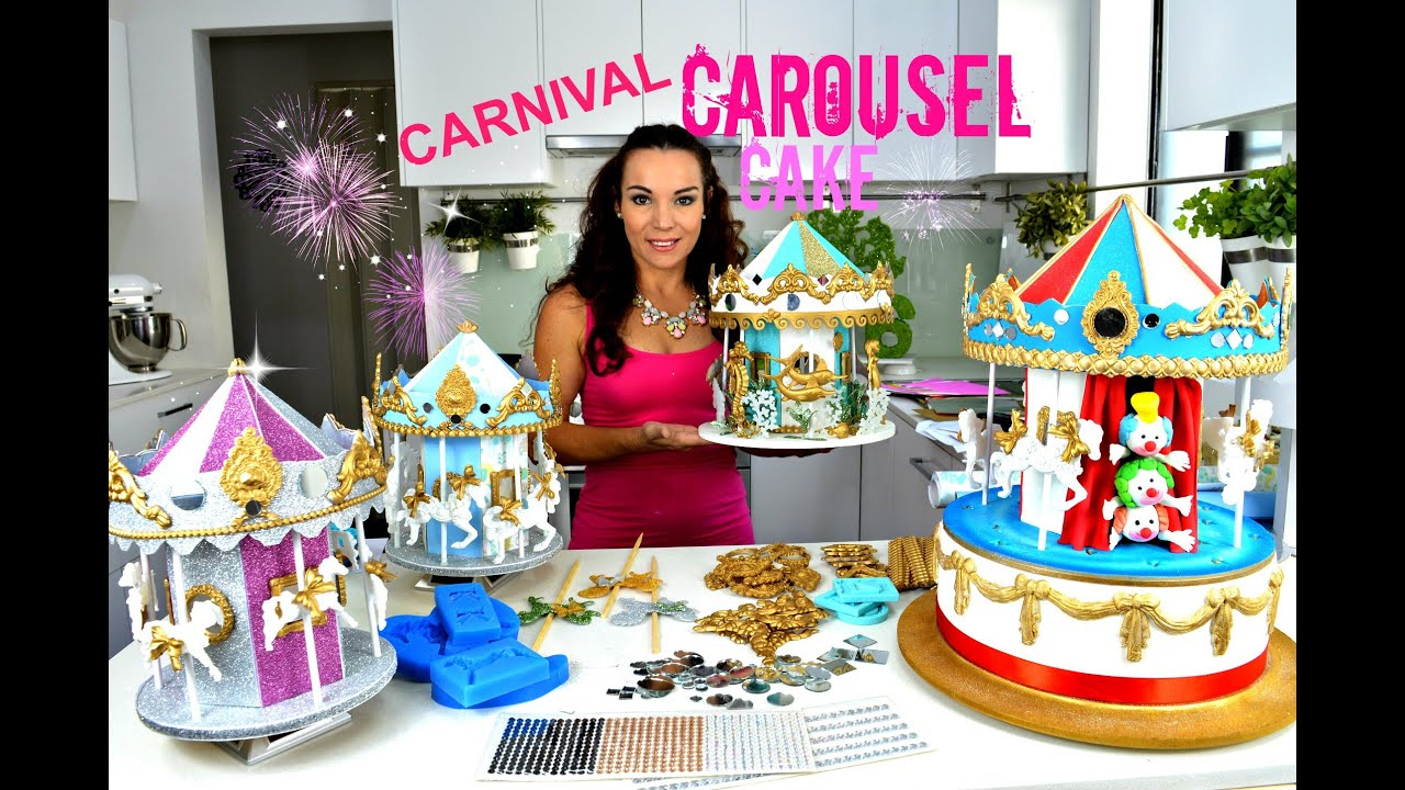 STUNNING CAROUSEL CAKE OR CAKE TOPPER THEY REALLY TURN HAVE
