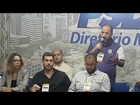 Edu Balota presidente Instituto Teothonio Vilela (ITV) fala em reunião diretório Municipal PSDB