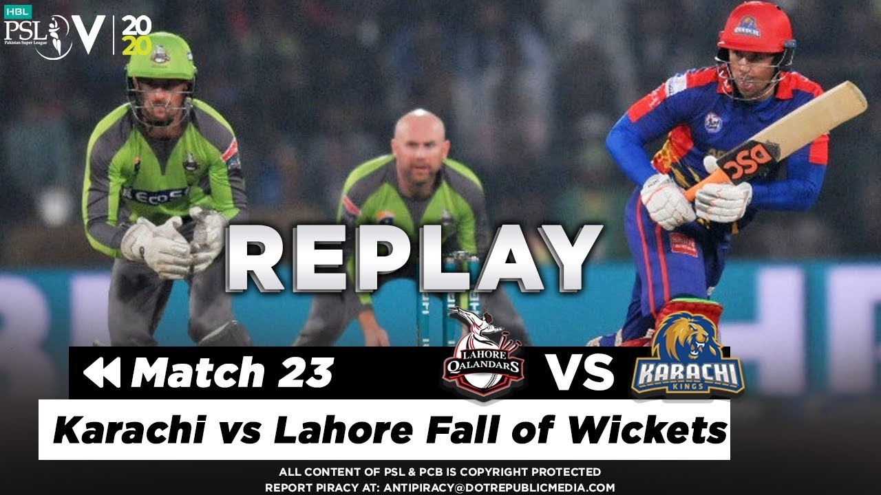 Karachi vs Lahore Fall of Wickets | Karachi Kings vs Lahore Qalandars | Match 23 | PSL 2020