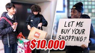 SPENDING $10000 ON STRANGERS CHRISTMAS SHOPPING!!!