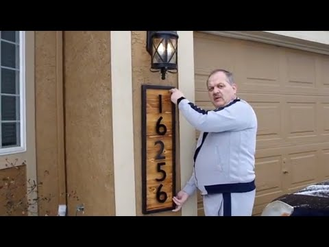 SAVE MONEY: DIY EXTERIOR HOUSE NUMBERS DISPLAY