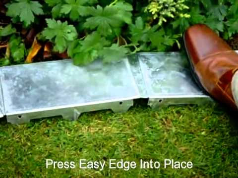 Easy edge lawn trim youtube for Easy gardener lawn edging