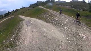 Mountain Biking in Les Arcs - France - MTB French Alps Cross Country Trails France