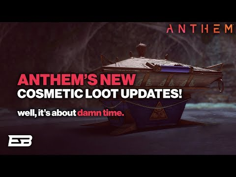 HUGE ANTHEM LOOT UPDATE! NEW COSMETICS, ELYSIAN CACHES, & MORE!! // Anthem Gameplay