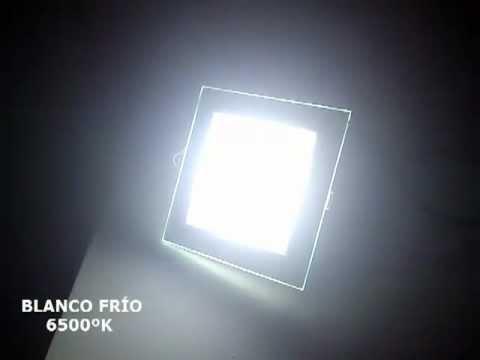 Panel Downlight LED 12W Regulable - 3000ºK/ 4000ºK/ 6500ºK - YouTube