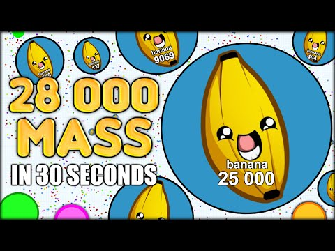 MY WORLD RECORD! 28 000+ MASS IN 32 SECONDS IN AGARIO! (THE MOST ADDICTIVE GAME EVER - AGAR.IO #29)