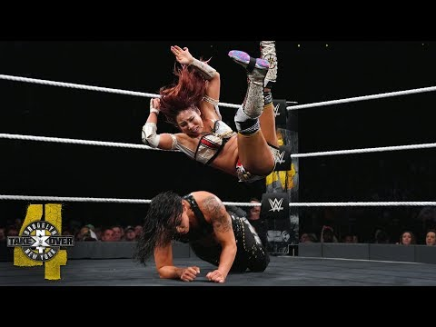 Kairi Sane drops TWO InSane Elbows on Shayna Baszler: NXT TakeOver: Brooklyn IV (WWE Network)