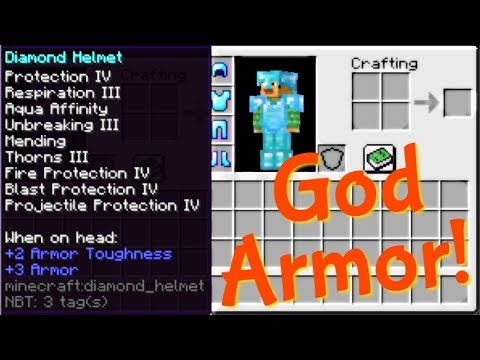 GOD Armor In Survival! | 1.14-1.14.2 Minecraft