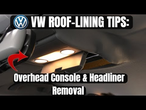 vw-tourareg-roof-sunglasses-console-&-headliner-removal