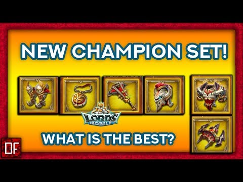 Lords Mobile: New Champion Gear! What Is The Best Champ Gear Set?