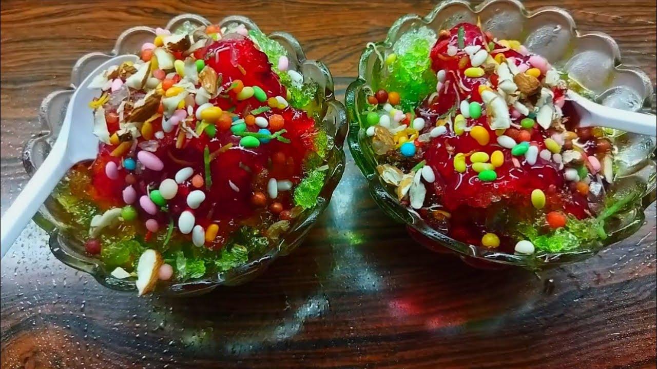 Download Gola Ganda with 3 Different Sharbath Syrups Recipe | Home made Baraf  Ka Gola Recipe | Ice Dessert