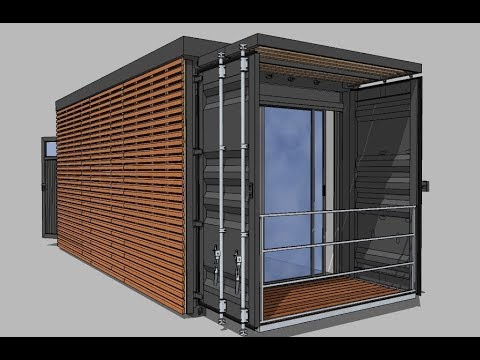 Container maritime 20 pieds aménagé Studio / 20ft Shipping Container home