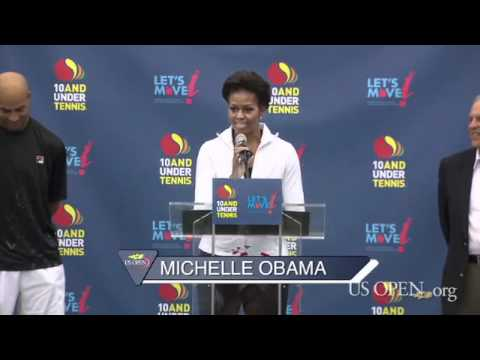 2011 US Open: Michelle Obama At The US Open