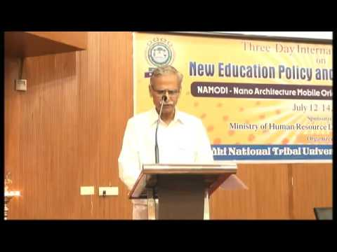 AMU VC addressing at International Seminar on New Education Policy