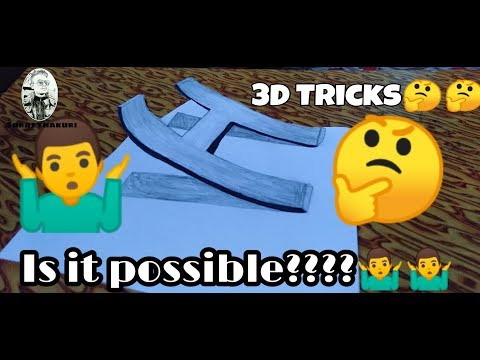 Can you do it???How to draw 3D Art for Kids👩👩👦👦3D Trick magical-Anamorphic illusion[English]
