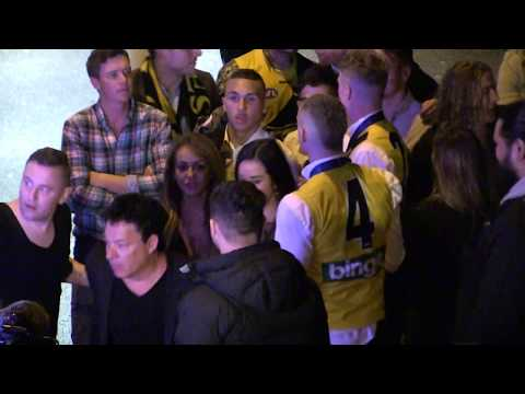 'AFL star DUSTIN MARTIN arrives at BOND Bar following Premiership win' #exclusive 30/9/17