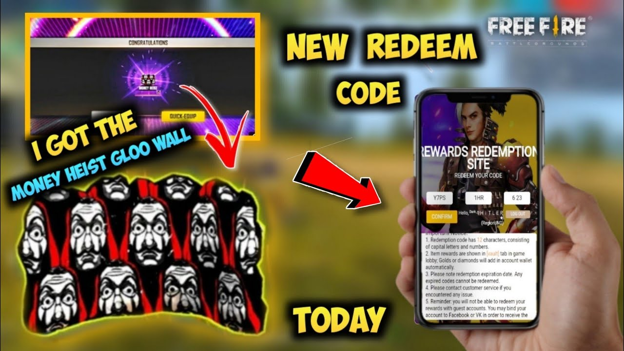 Free Fire New Redeem Code Today || FF New Codes || Special ...
