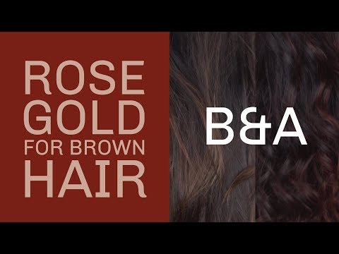 The BEST way to go Rose Gold on brown hair