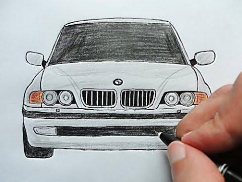 Как нарисовать Машину Бумер BMW(Любительская работа)(Ehedov Elnur)Wie Man Ein Auto BMW Zieht