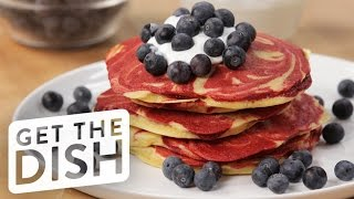 Cake Mix Pancakes With What's Up Moms | Get the Dish