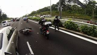 Accident at 9 00 am at PIE towards Changi Before Lornie Road