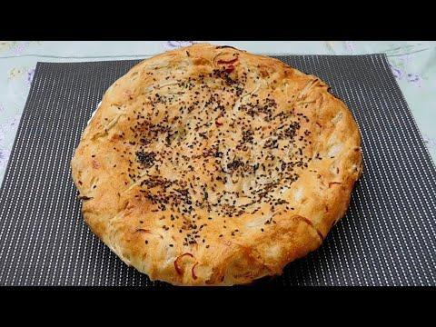 Это очень вкусно! просто и быстро лепёшки с луком, узбекская кухня