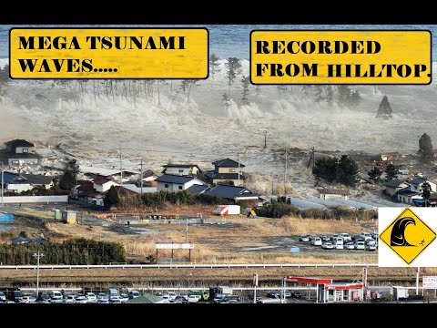 Tsunami -japan 2011,New (2021) unseen footage recorded from hill top.