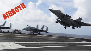 Dassault Rafale Operations On USS George H.W. Bush (CVN-77)
