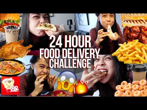 EATING Only DELIVERED FOOD For 24HRS |  Burger, Fried Chicken, Fries, Milktea, Seafood & More!!