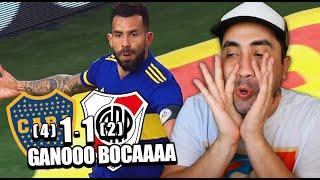 BOCA (4) 1 - 1 RIVER (2) | SUPER CLASICO | Reacción de un Hincha | Copa Liga 2021