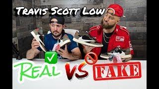 REAL vs FAKE! Travis Scott Jordan 1 Low!