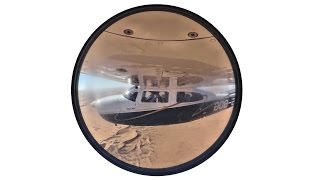 Flight over the Namib Desert to Sossusvlei