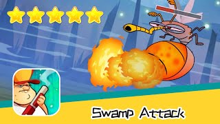 Swamp Attack EPISODE 3 Level 12 Walkthrough Defend Survive Attack! Recommend index five stars