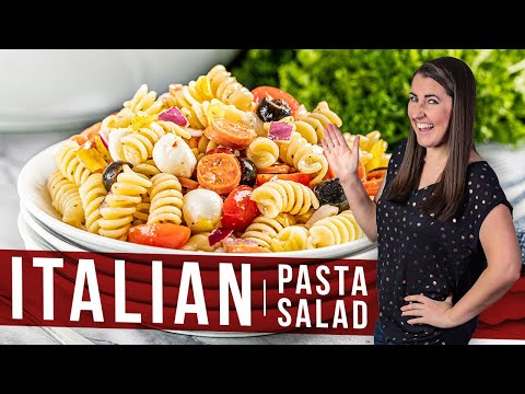 How To Make Italian Pasta Salad The Stay At Home Chef Youtube