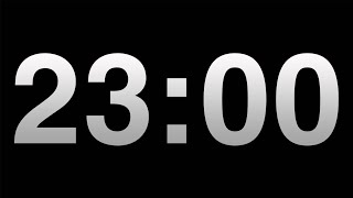 Timer 23 Minutes Timer Video Countdown Black Background