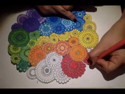 Coloring Book Secret Garden : Secret garden coloring book: rainbow flowers youtube