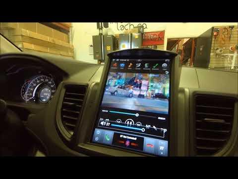 Installation Tesla Style Android Navigation Multimedia System For Honda CRV 2012-2016