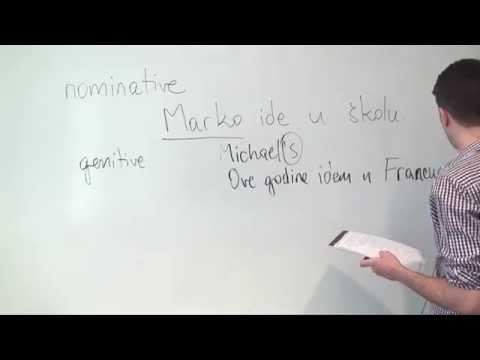 Bosnian/Croatian/Serbian Grammar: Declension of Nouns