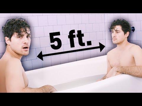 2 bros chillin in a bath tub (bye 2017)