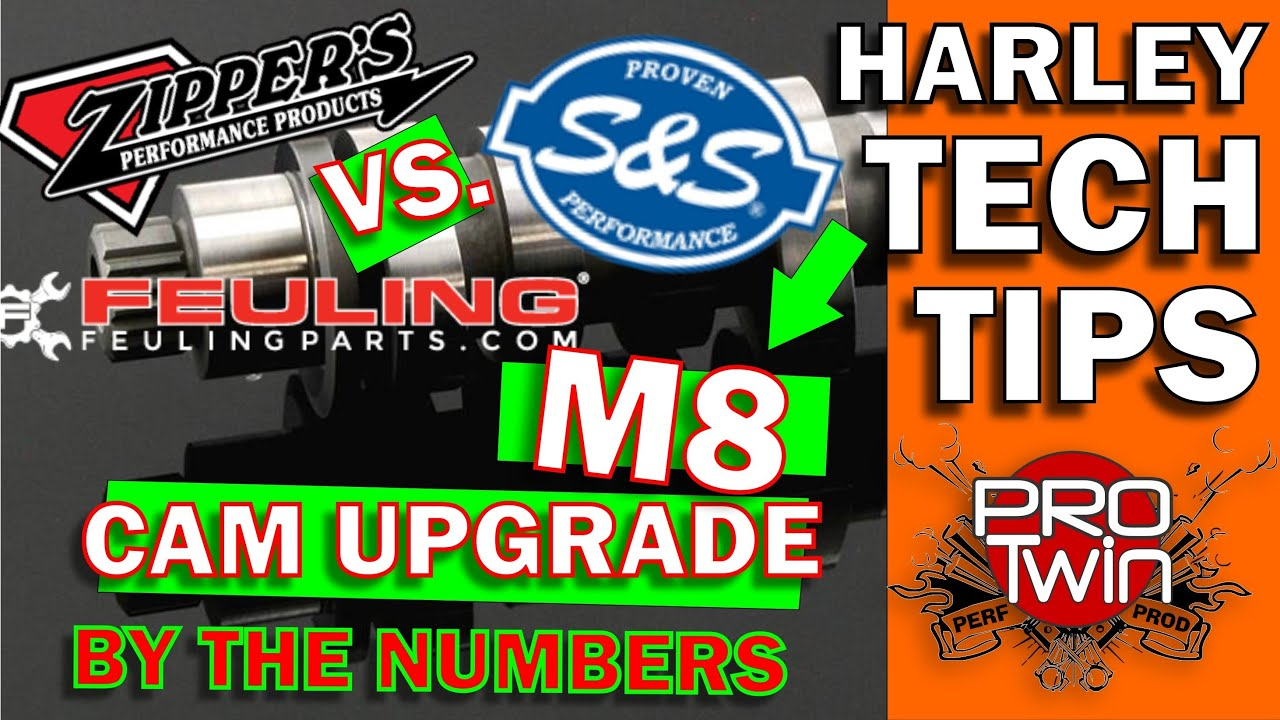 M8 Harley Cam Comparison - Zippers 468 | S&S 465 | Feuling 465 - Kevin Baxter - Pro Twin Performance