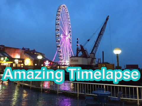 TIME LAPSE: Riding the Seattle Great Wheel at Night ★★★★★
