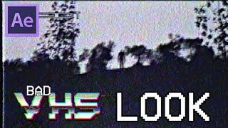 Bad Quality Old VHS Look Tutorial [After Effects]